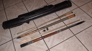 Pool table sticks with case for Sale in Ontario, CA