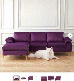 "Wayfair 94"" Marchagee Velvet Couch for Sale in Austin,  TX"