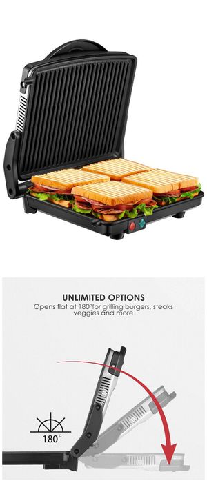 New Electric Contact Grill Open 180 Flat Barbecue For Household Kitchen for Sale in El Monte, CA