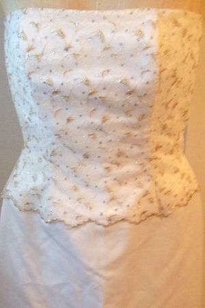 Bridal Scott McClintock white/gold fitted dress Size 6 for Sale in Town 'n' Country, FL
