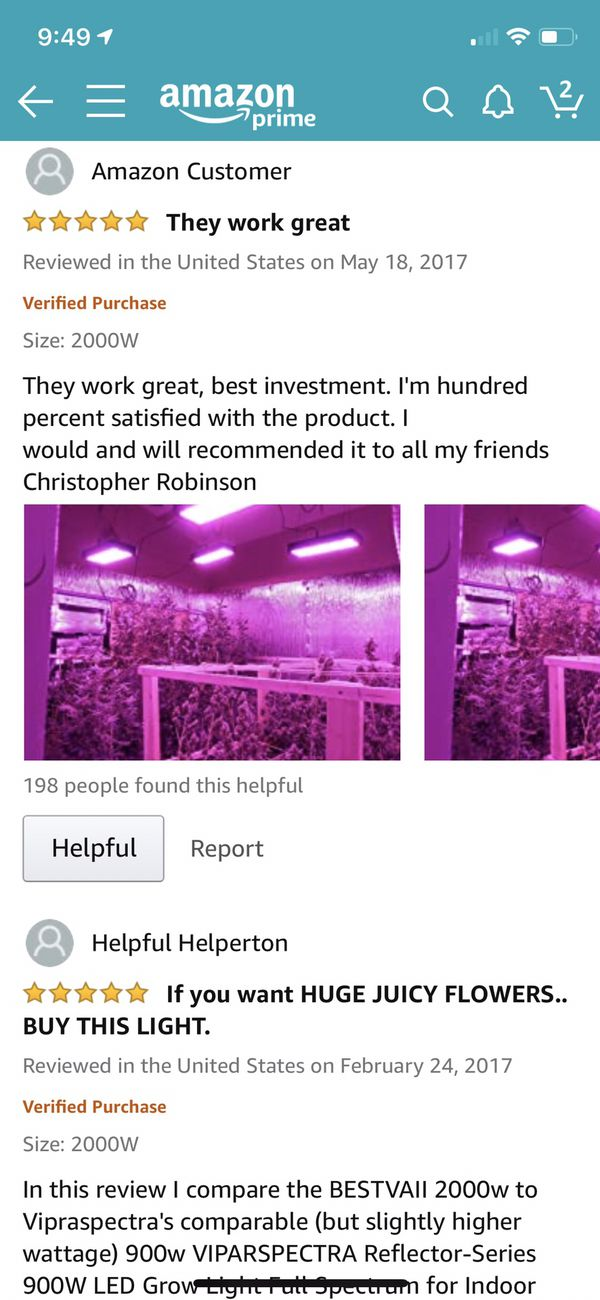 BESTVA DC Series 2000W LED Grow Light Full Spectrum Grow Lamp for Greenhouse Hydroponic Indoor Plants Veg and Flower