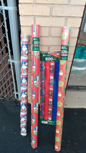 Christmas wrapping paper for Sale in Orland Hills, IL