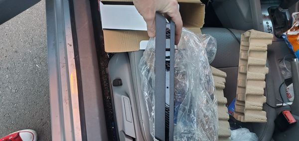 Playstation 4 brand new hasn't been used once, has all the cable and cords it needs to work and has a controller