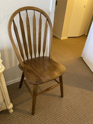 Wooden chair super sturdy and great condition solid wood for Sale in Sun City, AZ