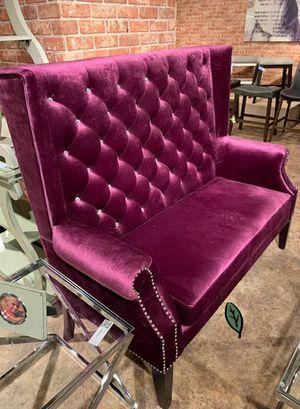 🍒 BEST Offer SPECIAL] Odina Velvet Purple High Back Loveseat 71 for Sale in Jessup, MD