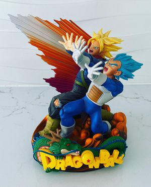 Father & Son Duo Blast - Super Saiyan Blue Vegeta & Trunks Statue Dragon Ball Z for Sale in Miami Beach, FL