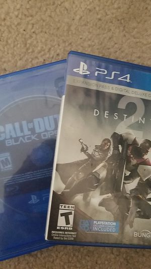 destiny 2 and black ops 3 games for ps4 for Sale in Manassas, VA