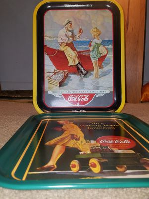 (2)Vintage Coke Serving Trays for Sale in Fairfax, VA