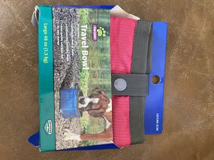 Brand new nylon travel pet bowl food/water for Sale in Fresno, CA