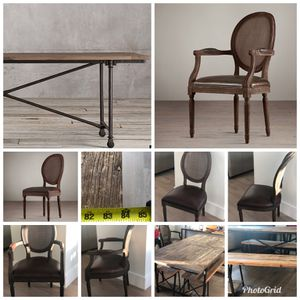 Dinning Room - Restoration Hardware Table and Chairs for Sale in Jersey City, NJ