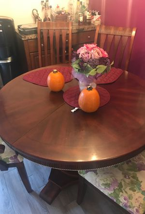 Kitchen table solid wood expandable 6 chairs for Sale in Davie, FL