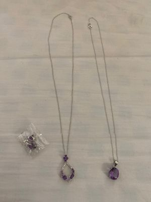 Costume jewelry Amethyst set for Sale in La Puente, CA