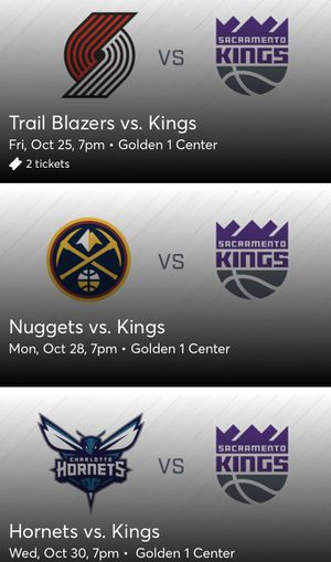 Sac Kings Lower Level Multi Game Pack for Sale in Sacramento, CA