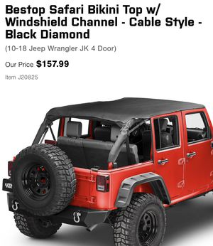Brand new still in packaging header bikini top with windshield channel for jku 2010-current for Sale in Tampa, FL