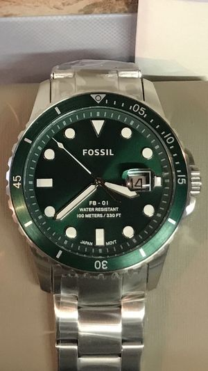 Fossil Men's 42mm Green Dial Stainless Steel Watch for Sale in Anaheim, CA