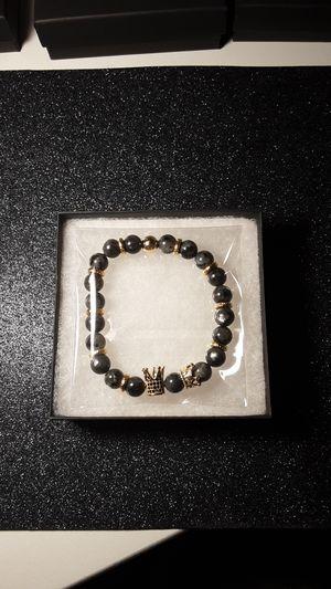 "Men ""Crown"" Bracelet (Grey) for Sale in US"