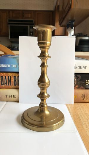 Brass candle holder for taper candle for Sale in Naperville, IL