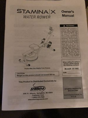 Stamina x water rower for Sale in San Benito, TX