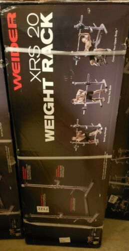 Weider XRS 20 Olympic Squat Rack with Adjustable Safety Spotters and Bar Holds for Sale in Fountain Valley, CA
