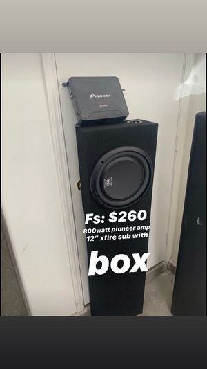 Amp and sub for Sale in Honolulu, HI