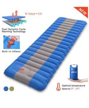 Overmont Sleeping Pad Inflatable (blue) for Sale in Kansas City, MO
