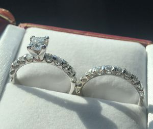Certified Leo Diamond Engagement and Wedding ring for sale for Sale in Houston, TX