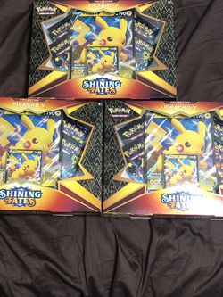Pokémon TCG: Shining fates pilachu v collection box factory sealed for Sale in Itasca,  IL
