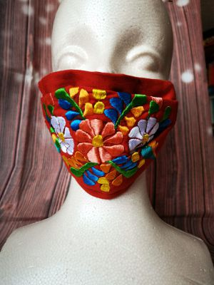 Adult Face mask, Facemask (Mexican Flowers: tabique): Hand made mask, reversible, reusable, washer and dryer safe. for Sale in Long Beach, CA