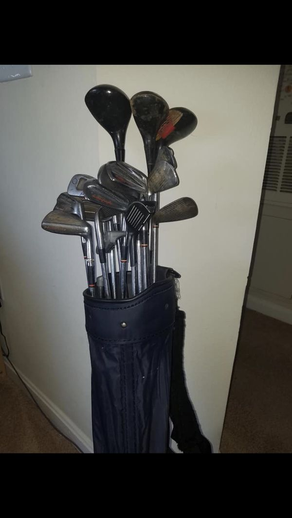 Golf clubs / 19 pieces +bag. All for $60