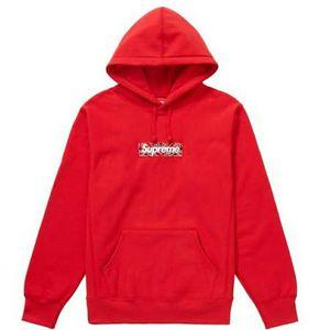 Supreme Bandana Box Logo Hooded Sweatshirt Red Size XL for Sale in Alexandria, VA