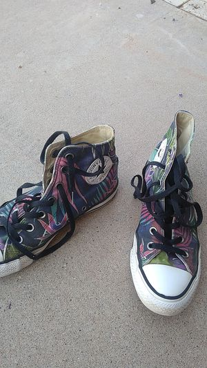 Converse high tops, size 7 women's, tropical for Sale in Scottsdale, AZ