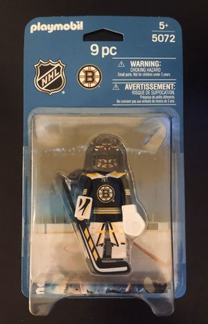 Boston Bruins NHL Hockey Playmobil 9 Pc Toy Action Figure Goalie - BRAND NEW! for Sale in Fair Oaks, CA