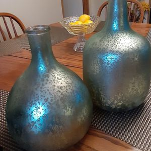 Gorgeous Pier One Glass Decor Jugs New Pair for Sale in Batesburg, SC