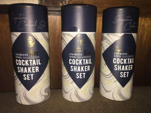 3 6pc cocktail shaker sets for Sale in Hagerstown, MD