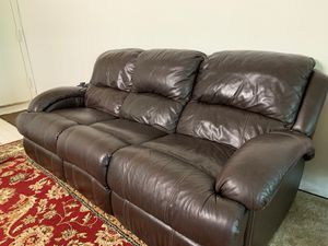 Ashley 6 seater leather sofa , love seat and rocking chair for Sale in Herndon, VA