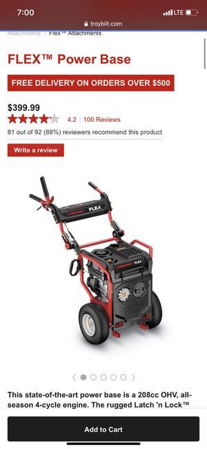 Troy Built base and snow blower for Sale in Glen Burnie, MD