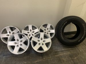 Jeep Wrangler Wheels and Tire for Sale in The Woodlands, TX