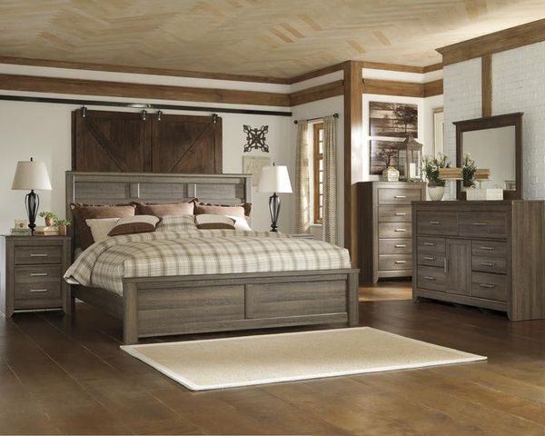 Juararo Dark Brown Pahfnel Bedroom Set