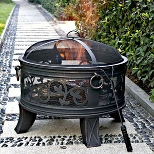 "Granada 26"" Steel Fire Pit, Antique Bronze 14c for Sale, used for sale  Norcross, GA"