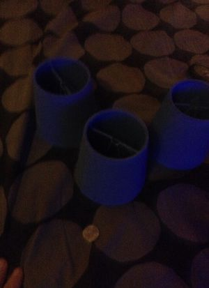Three tiny blue lamp shades for Sale in Denver, CO