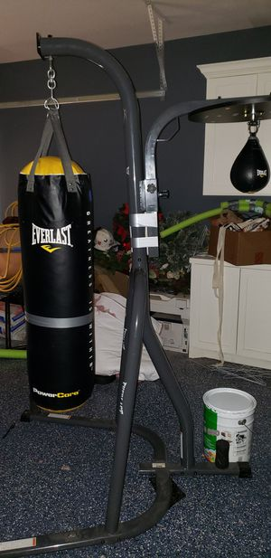 Reflex bag and Dual Station stand with heavy bag and speed bag for Sale in Spring, TX