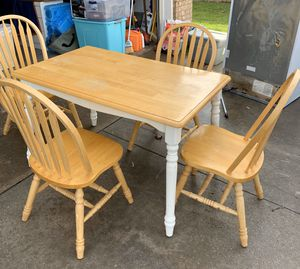 Kitchen Table with 4 Chairs for Sale in Arlington, TX