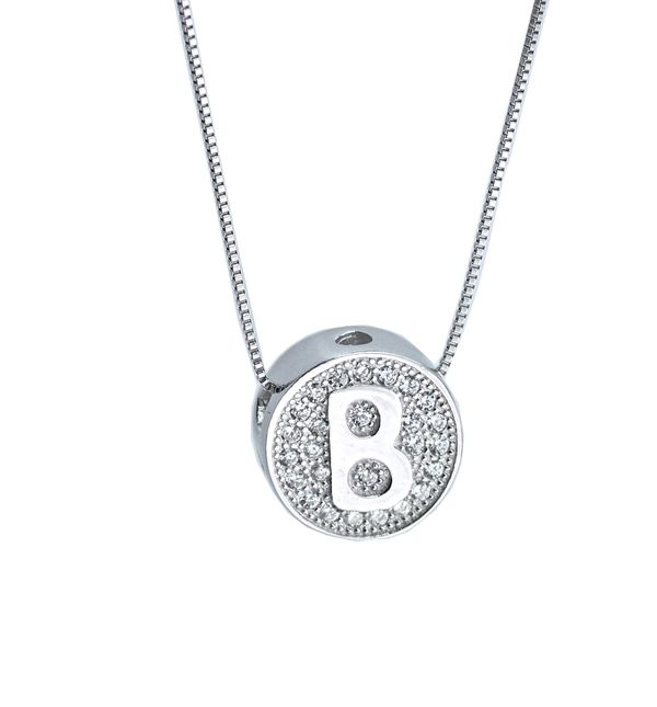 Initial letter B necklace