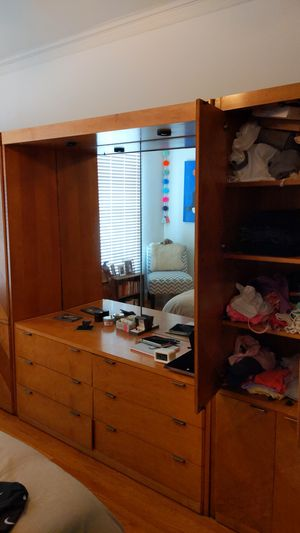 Large vintage armoire with mirror and lots of shelves for Sale in San Francisco, CA