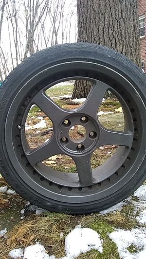 5 lug black five-star Motorsport racing rim for Sale in Millis, MA