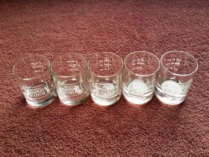 5 Passport Scotch Collectible Shot Glasses for Sale in Philadelphia, PA