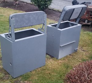 Aluminum storage / boat seats for Sale in Everett, WA