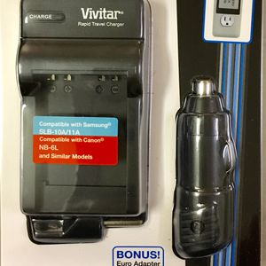 Vivitar Rapid Battery Charger for Canon NB 6L for Sale in Washington, DC