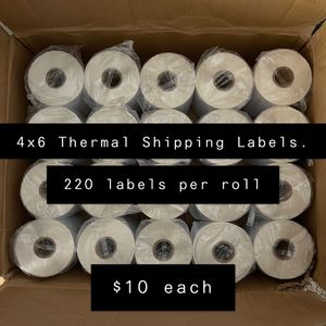 4x6 Thermal Shipping Labels/Rolls - 220 Labels Per Roll for Sale in North Las Vegas, NV