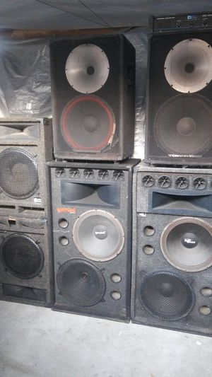 Free dj amp when you buy speakers for Sale in Los Angeles, CA